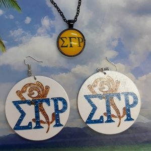 Sigma Gamma Rho Necklace and Earrings set